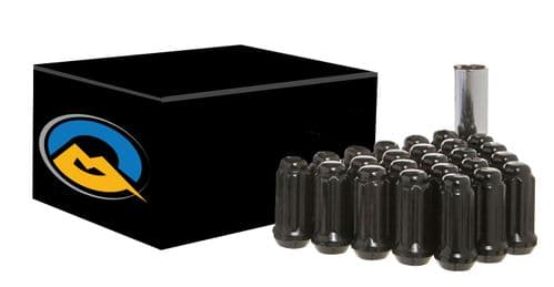 20 pack Black Spline long Van Nut M14x1.5