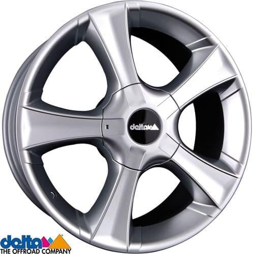 Delta4X4  Sins 18X8 5X120 +40 Cb65,1 Silver to fit VW T5 T6  and  Crafter 2019+
