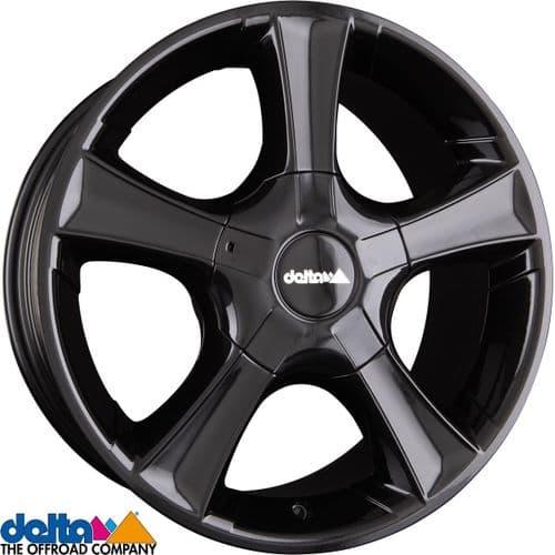 Delta4X4  Sins 18X8 5X120 +57,5 Cb65,1 Black to fit VW T5 T6  and  Crafter 2019+