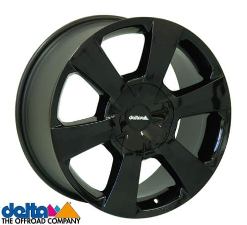 Delta4X4  Wp 16X7,5 5X120 +40 Cb65,1 Gloss Black to fit VW T5 T6  and  Crafter 2019+