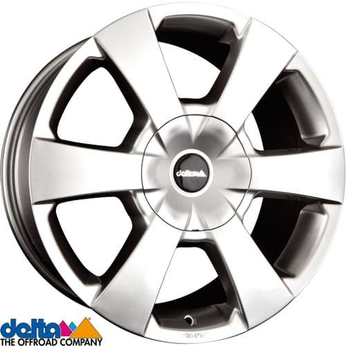 Delta4X4  Wp 16X7,5 5X120 +40 Cb65,1 Gloss SIlver to fit VW T5 T6  and  Crafter 2019+