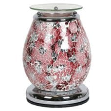Aromatize ATHENA Glass Mosaic Crackle Electric Wax Melt Burner Warmer Touch Control On/Off