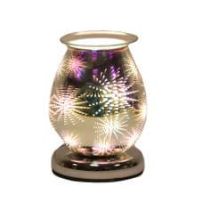 Aromatize FIREWORK - 3D Oval Glass Electric Wax Melt Burner 16cm Touch On/Off