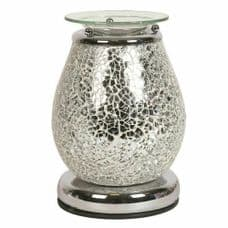 Aromatize JUPITER Glass Mosaic Crackle Electric Wax Melt Burner Warmer Touch Control On/Off