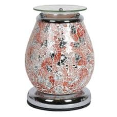 Aromatize POSEIDON Glass Mosaic Crackle Electric Wax Melt Burner Warmer Touch Control On/Off