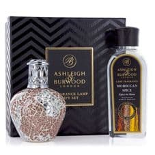Ashleigh & Burwood Fragrance Lamp Gift Set -  Apricot Shimmer & Moroccan Spice Lamp Oil