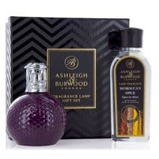 Ashleigh & Burwood Fragrance Lamp Gift Set - Damson in Distress & Moroccan Spice Lamp Oil