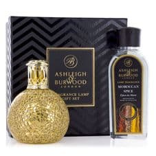 Ashleigh & Burwood Fragrance Lamp Gift Set -  Golden Orb & Moroccan Spice Lamp Oil