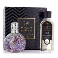 Ashleigh & Burwood Fragrance  Lamp Gift Set - Pearlecense & Fresh Linen Lamp Oil