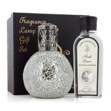 Ashleigh & Burwood Fragrance Large Lamp Gift Set -  Paradiso & Fresh Linen Lamp Oil