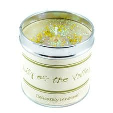 Best Kept Secrets LILY OF THE VALLEY Candle Tin - Seriously Scented!  50 hr burn