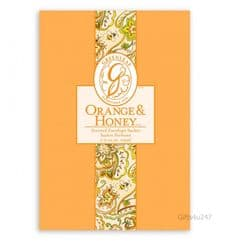 Greenleaf & Bridgwater ORANGE & HONEY  Large Scented Envelope Sachet