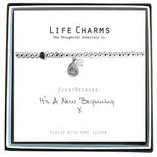 "Life Charms Bracelet - "" ITS A NEW BEGINNING "" - Beautifully Gift Boxed"