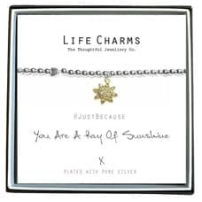 "Life Charms Bracelet - "" You Are A RAY OF SUNSHINE "" -  Beautifully Gift Box"