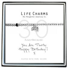 "Life Charms Bracelet - "" You Are THIRTY, Happy Birthday! x "" - Beautifully Gift Boxed"