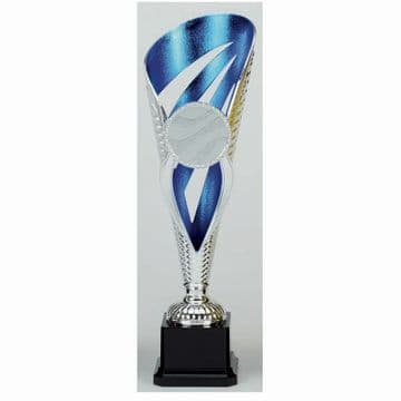 PK76A Grand Voyager Blue and Silver Detailed Trophy Cup
