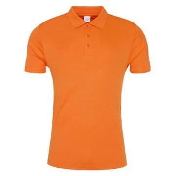 Umpires Orange Cool Smooth Performance Polo Shirt