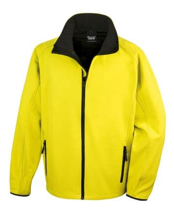 Umpires Yellow Black Soft Shell Jacket