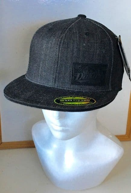 DK Black Denim Premium 210 Fitted 7 1/4 - 7 5/8