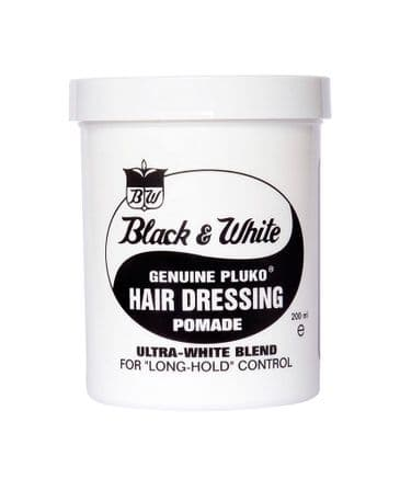 Black and White pluko hair pomade