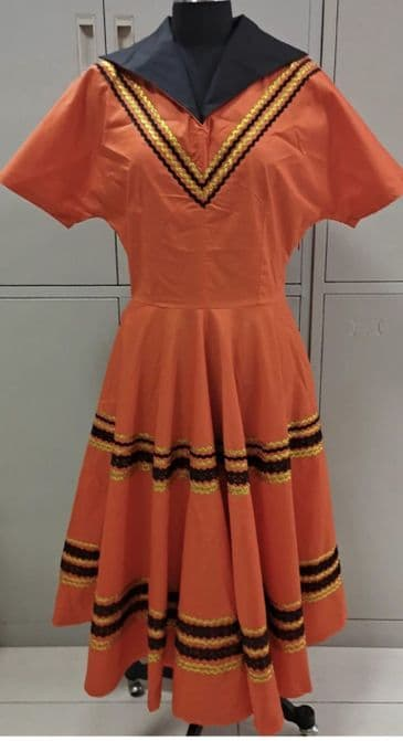 COMING SOON Patio dress vintage 1950s style Mexican full circle red and black XS to 3 XL
