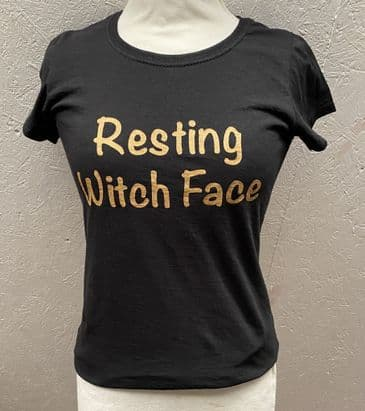Resting Witch Face  girlie fit black T Shirt