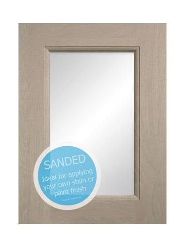 715x497mm, clear glazed Mornington Beaded Sanded Feature Door