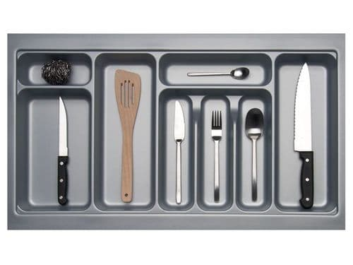 800mm Wide 450mm Deep Blum Tandembox Cutlery Insert - Grey