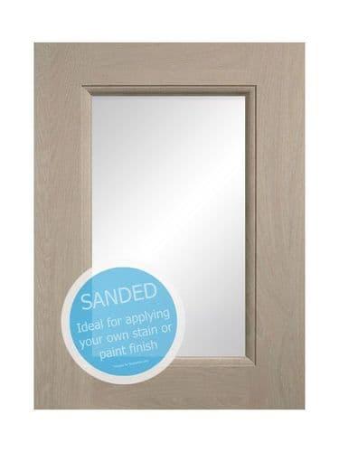 895x497mm, clear glazed Mornington Beaded Sanded Feature Door