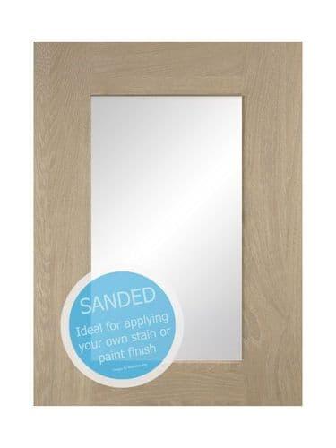 895x497mm, clear glazed Mornington Shaker Sanded Feature Door