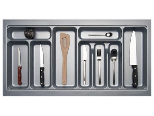 900mm Wide 450mm Deep Blum Tandembox Cutlery Insert - Grey