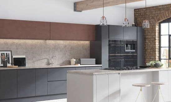 Aconbury Matt Mid Grey Kitchens