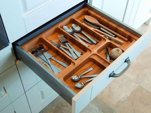 Blum Tandem cutlery insert, 900mm unit, beech