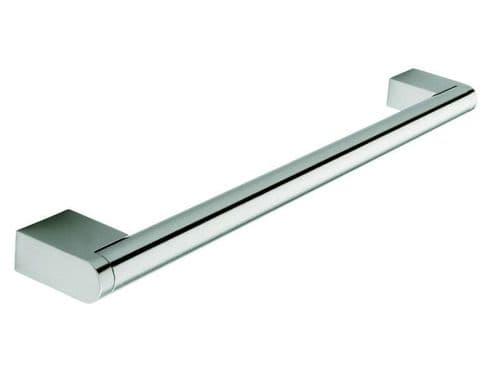 Boss bar handle, 14mm diameter, 337mm long, steel, stainless steel effect  - H48