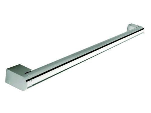 Boss bar handle, 22mm diameter, 237mm long, steel, stainless steel effect  - H66