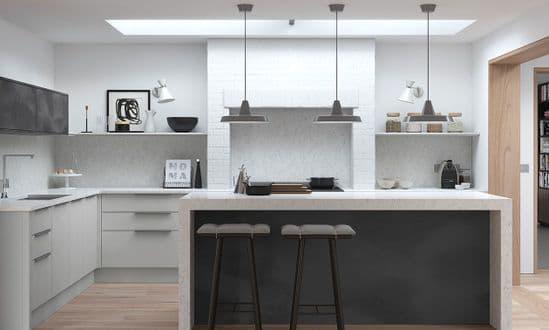 Cosdon Matt Light Grey Kitchens