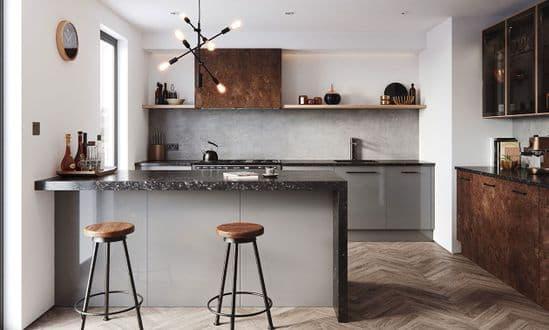 Cosdon Matt Mid Grey Kitchens