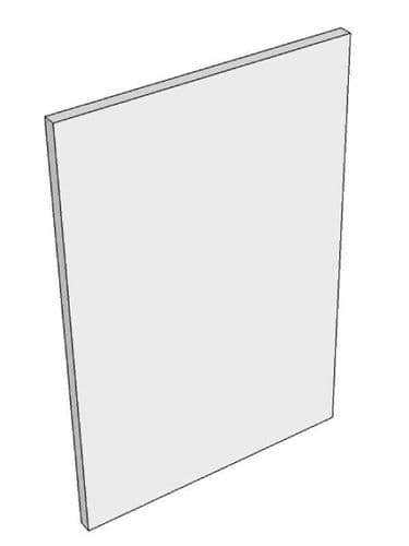 Milbourne Stone Base end panel, profiled front, 900x610x18mm