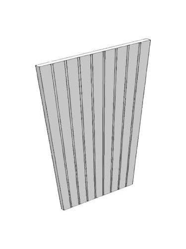Mornington Beaded Porcelain End panel, T&G, 900x650x18mm