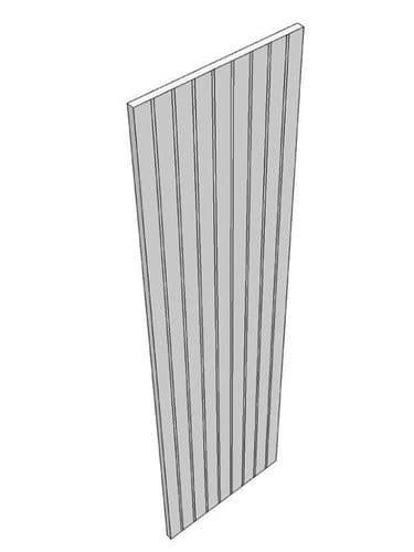 Mornington Beaded Porcelain End panel, T & G, finished both sides & edges, 2400x650x18mm