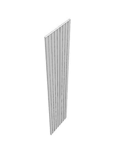 Mornington Beaded Porcelain Wall end panel, T&G, 774x370x18mm