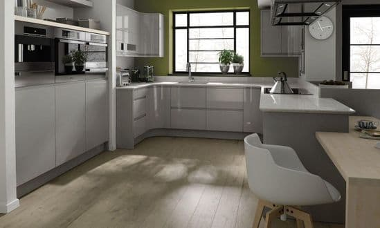 Remo Gloss Dove Grey Kitchens
