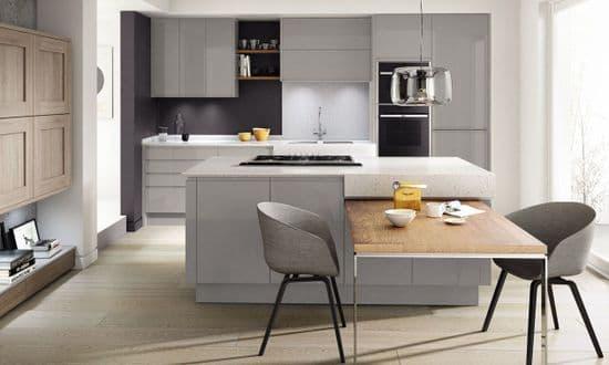 Remo Gloss Silver Grey Kitchens