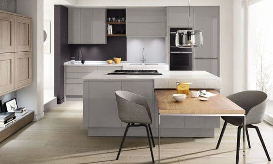 Remo Gloss Silver Grey Kitchens