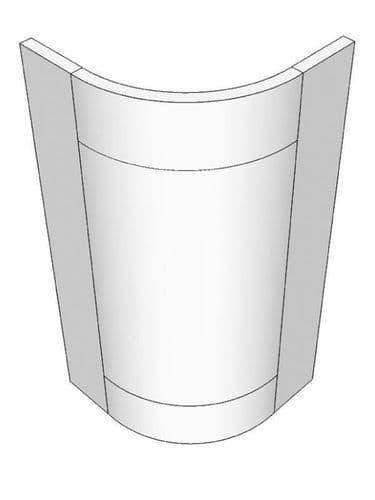 Small curved door for 720x300x300mm cabinet Mornington Beaded Porcelain Feature Door