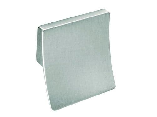 Square handle, 32mm, die cast, brushed steel effect  - H38
