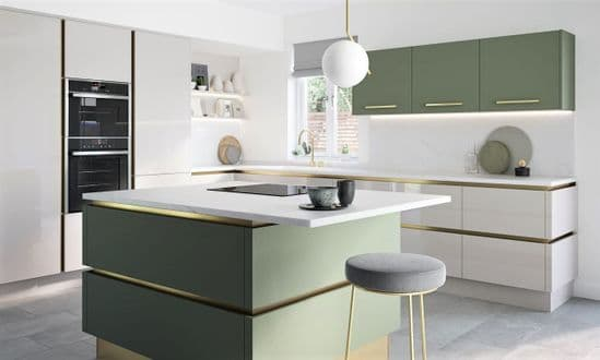 True Handleless Matt Dove Grey Kitchens