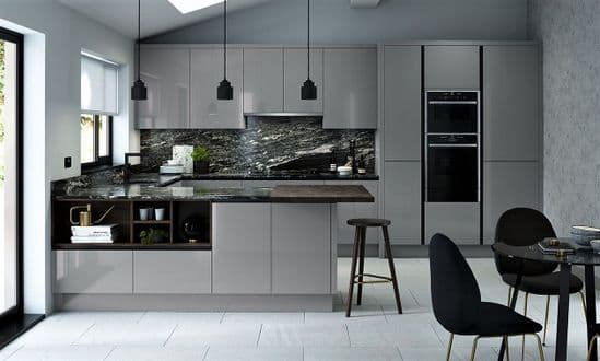 True Handleless Matt Dust Grey Kitchens