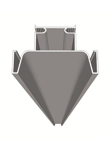 Vertical aluminium profile (intermediate), 4200x71.6x41mm, trim to size