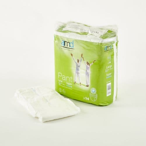 AMD Pant X Large super Pullup pants incontinence underwear pads